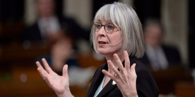 Labour Minister Patty Hajdu responds to a question during question period in the House of Commons on...