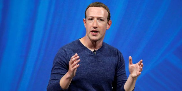 Facebook founder and CEO Mark Zuckerberg speaks at the Viva Tech start-up and technology summit in Paris,...