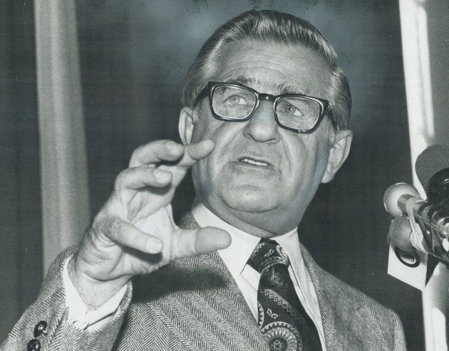 Federal NDP leader David Lewis denounced Canada's corporate tax system in 1972.