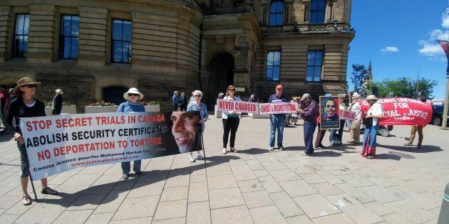 Rally to stop the deportation of Mohamed Harkat to torture held in Ottawa in July