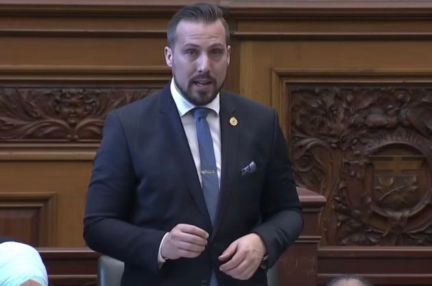 NDP MPP Ian Arthur speaks in the legislature on Dec. 4,