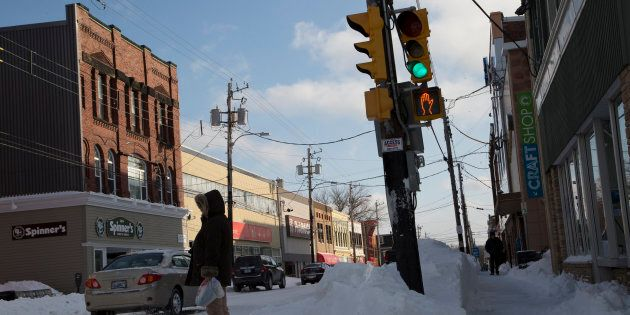 A downtown street in Sydney, N.S., Feb. 6, 2015. More than 600 people have lost their jobs after a call...