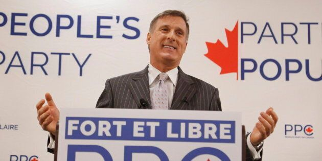Maxime Bernier speaks at a People's Party of Canada rally in Gatineau, Que. on Nov. 20,