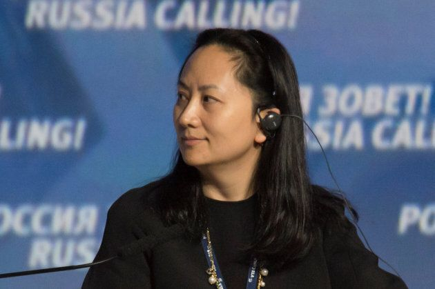 Meng Wanzhou, Executive Board Director of the Chinese technology giant Huawei, attends a session of the...