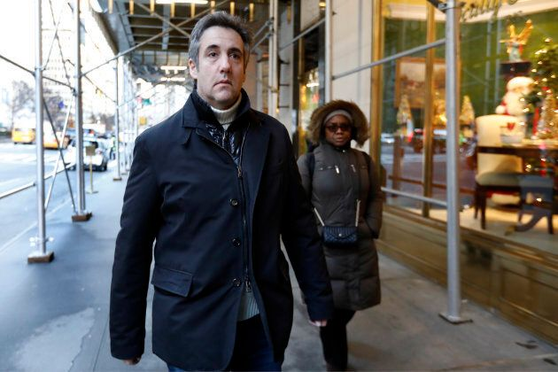 Michael Cohen, former lawyer to President Donald Trump, leaves his apartment building on New York's Park...