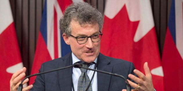 Ontario Financial Accountability Officer Peter Weltman answers questions at Queen's Park in Toronto on...