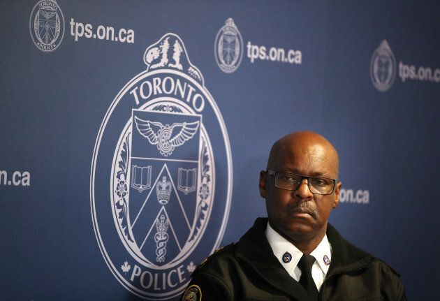 Chief Mark Saunders' police force says in response to the Ontario Human Rights Commission report that it is already working hard on addressing systemic bias. He is shown here on Oct. 29.