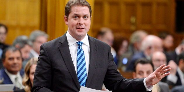 Federal Conservative Party Leader Andrew Scheer rises during question period in the House of Commons...