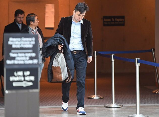 Liu Xiaozong, husband of Meng Wanzhou, arrives at a B.C. courthouse on Dec. 10,