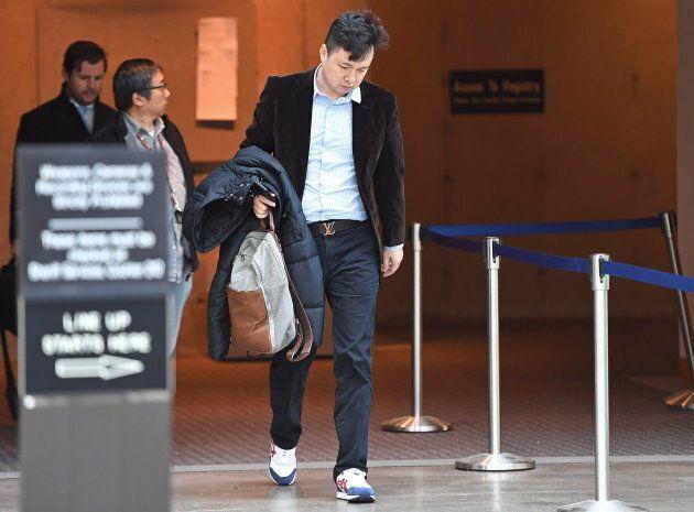Liu Xiaozong, husband of Meng Wanzhou, arrives at a B.C. courthouse on Dec. 10, 2018.