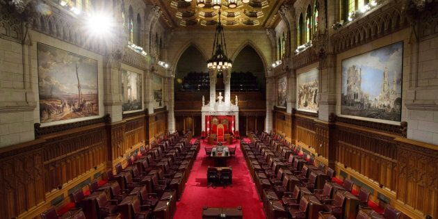 The Senate is pictured on Parliament Hill in Ottawa on Nov. 13,