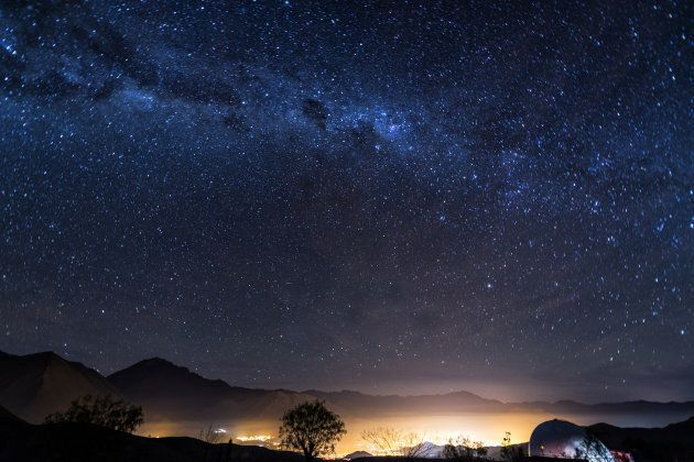 A star field over Elqui Valley, Chile.