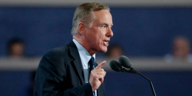 Former Vermont Governor and presidential candidate Howard Dean speaks at the Democratic National Convention...