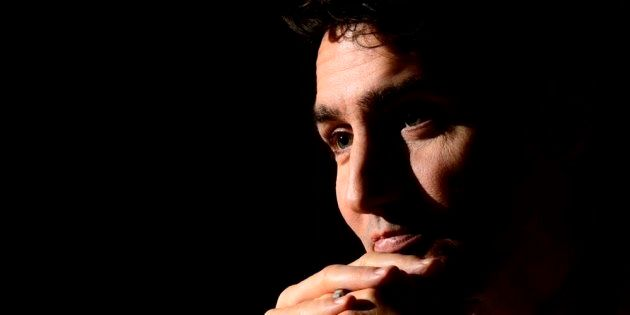 Prime Minister Justin Trudeau takes part in a year end interview with The Canadian Press on Parliament...