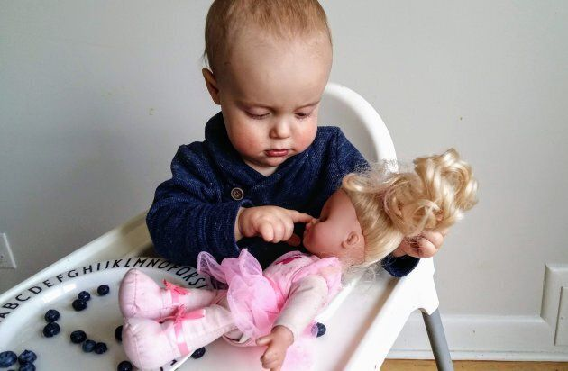 When we rethink gendered gift-giving and give a little boy a doll, it helps encourage them to be sensitive...