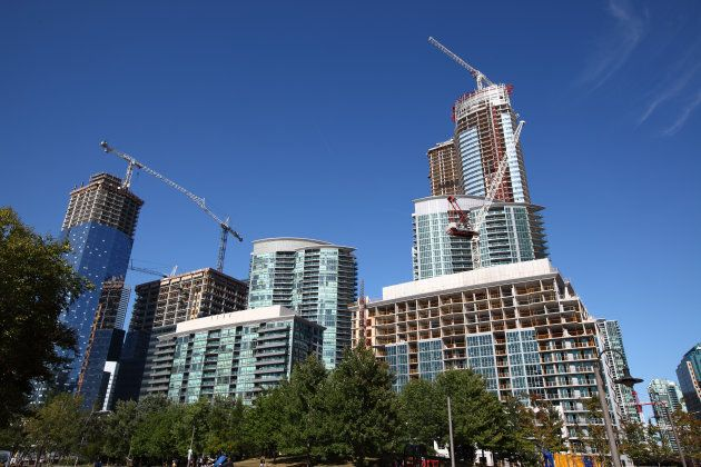 Downtown condo construction in