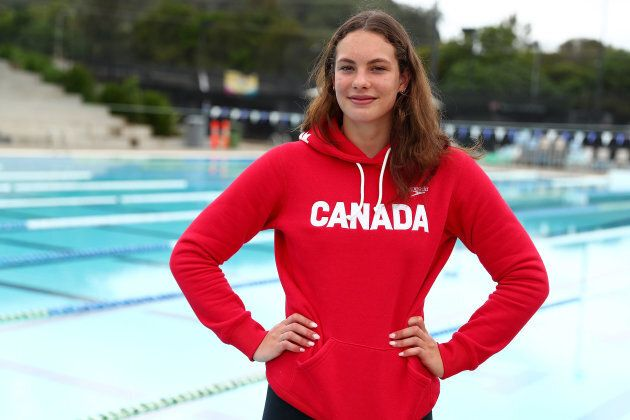 Penny Oleksiak poses during the 2018 Gold Coast Commonwealth Games at Somerset College on March 29, 2018...