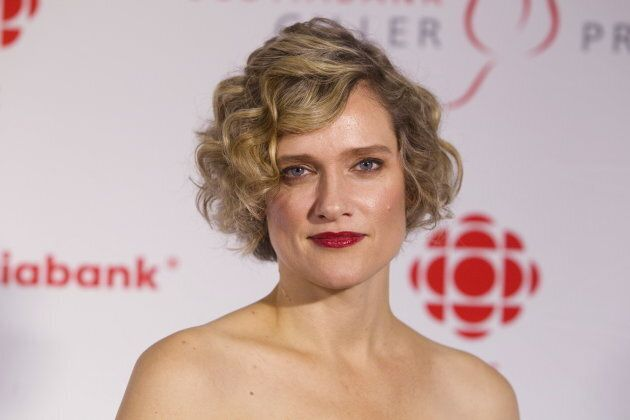 Heather O'Neill arrives at The Scotiabank Giller Prize gala event in Toronto, November 10, 2015.