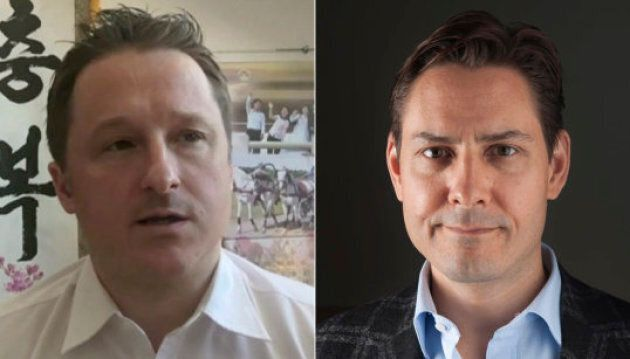 Michael Spavor (L) and Michael Kovrig were detained in China shortly after Canadian authorities arrested...