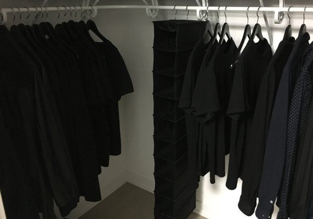 The author's closet when he lived alone.