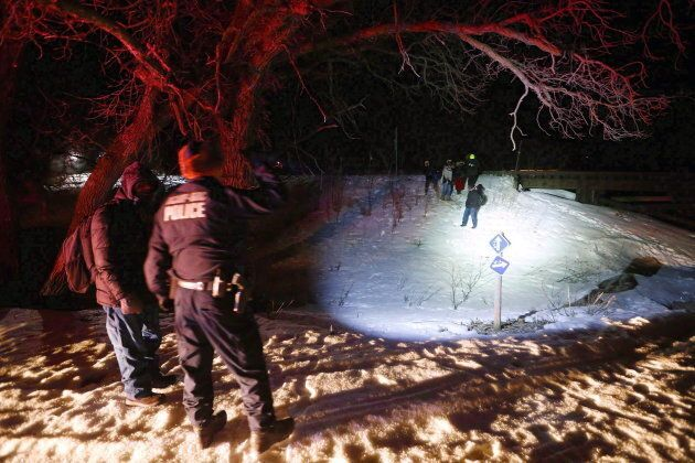 Migrants from Somalia cross into Canada illegally from the United States near Emerson, Man. in this Feb....