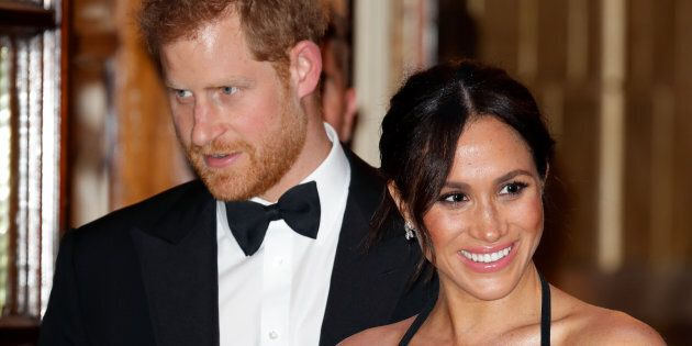 The Duke and Duchess of Sussex attend the 2018 Royal Variety Performance in London on Nov.