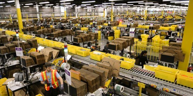 An Amazon fulfillment centre in Brampton, Ont. The online retail giant is opening a new fulfillment centre...