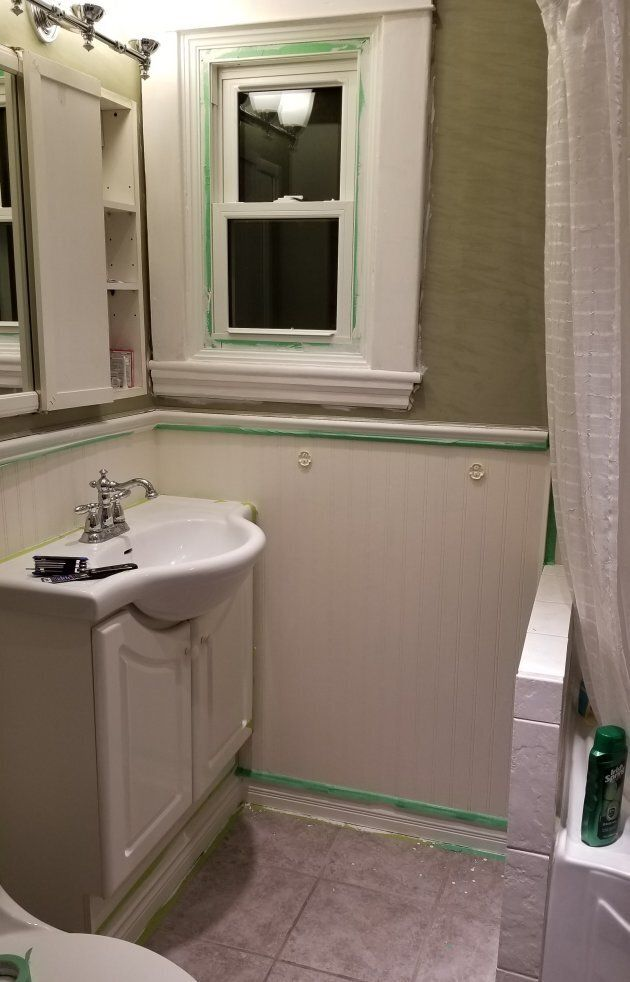 First project in our new house? The bathroom, of course.
