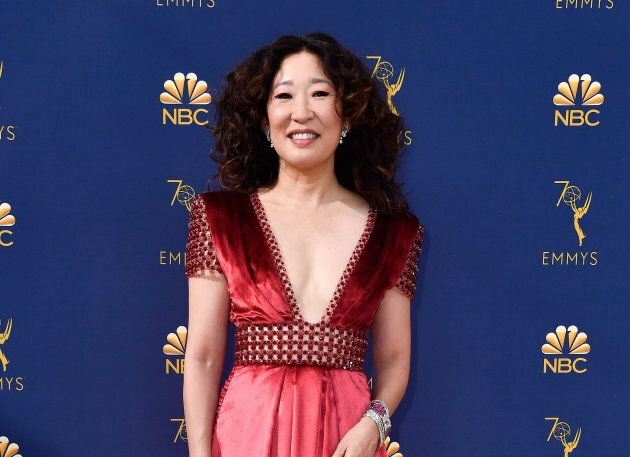 Sandra Oh attends the 70th Emmy Awards in Los Angeles, California on Sept. 17.
