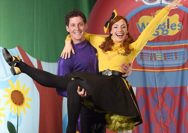 Lachlan Gillespie and Emma Watkins from children's band 'The Wiggles', pictured in 2015.