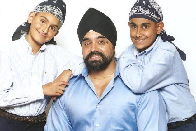 Suminder Singh is shown in a family photo with sons Jodhan (left) and Jeevan
