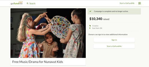 A screengrab of Gwenna Fairchild-Taylor's GoFundMe