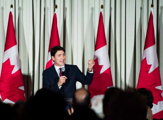 Prime Minister Justin Trudeau participates in a Liberal fundraising event in Markham, Ont., on December...