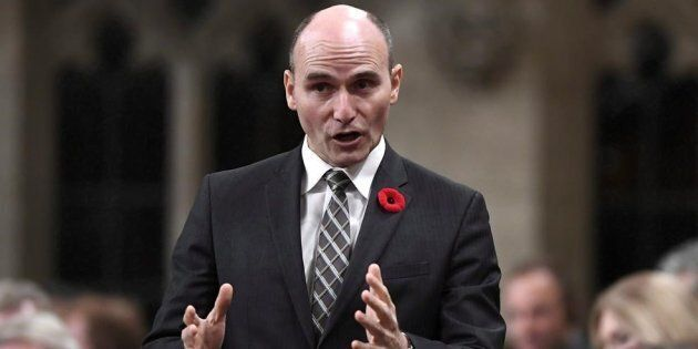 Minister of Families, Children and Social Development Jean-Yves Duclos rises during question period in...