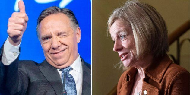Quebec Premier Francois Legault received a strong approval rating in the Angus Reid Institute's latest ranking of the most and least popular premiers, while Alberta's Rachel Notley saw a slight uptick in her score.