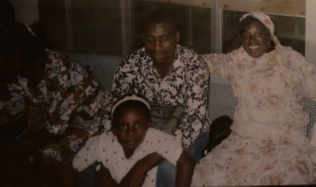 Jessica Opoku celebrating Christmas in Ghana with her family.