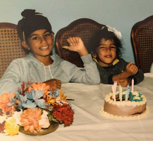 Jagmeet and Gurratan Singh in a childhood