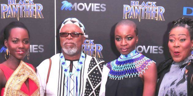 From left to right: Lupita Nyongo, John Kani, Danai Gurira and Connie Chiume during the