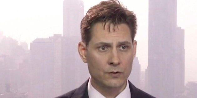 Michael Kovrig speaks during an interview in Hong Kong in this image made from a video taken on March...