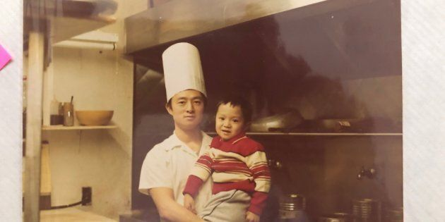 Michael Pan and his father Guo Qiang in Qiang's