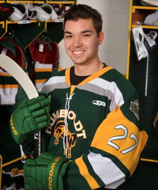 Humboldt Broncos hockey player Logan Boulet is seen in this undated handout
