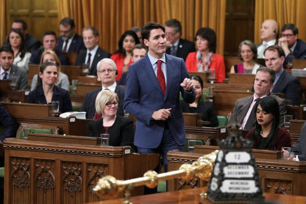 Prime Minister Justin Trudeau speaks about the closing of Centre Block in the House of Commons on Parliament...