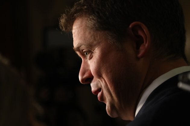 Andrew Scheer meets the Toronto Press corps at Queen's