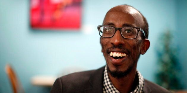 Sharmarke Dubow, a former Somali refugee who was recently elected to Victoria city council, is photographed...