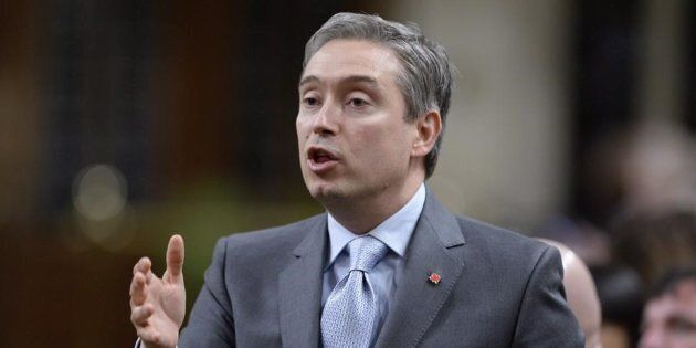 Minister of International Trade Francois-Philippe Champagne rises during Question Period in the House...