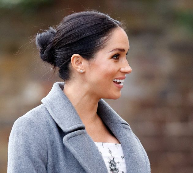 The Duchess of Sussex visits the Royal Variety Charity's Brinsworth House on Dec. 18, 2018 in Twickenham,