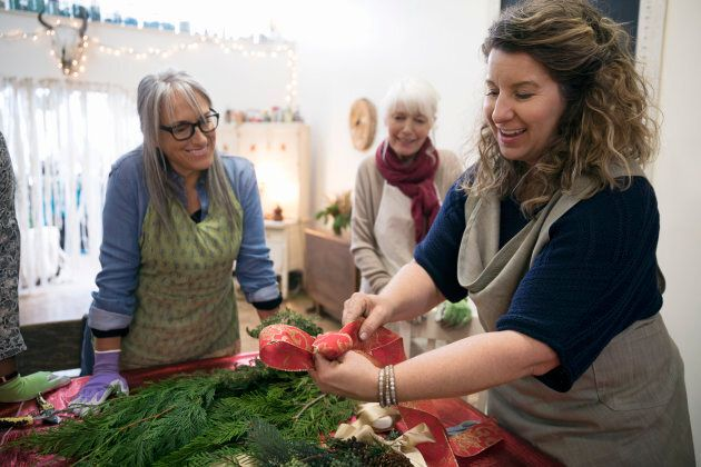 Classes such as cooking, dance, painting or wreath-making can boost your mood and combat feelings of