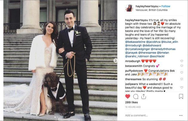 Jacob Hoggard with new wife Rebekah