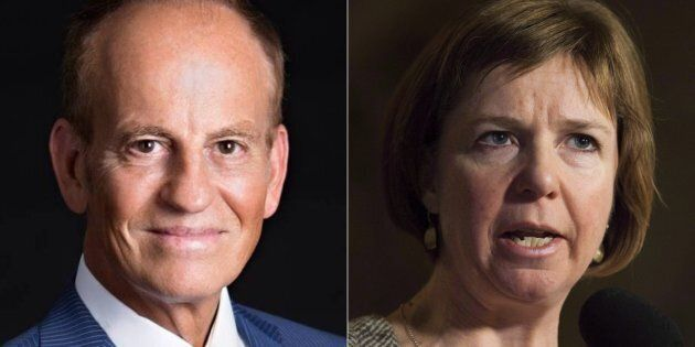 Liberal MP Nicola Di Iorio, outgoing NDP MP Sheila Malcolmson are shown in a composite