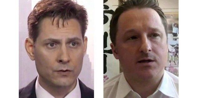 Michael Kovrig and Michael Spavor, the two Canadians detained in China, are shown in these 2018 images...